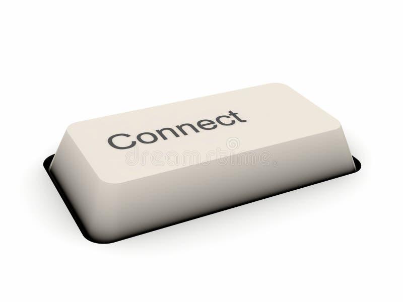 按钮连接关键董事会 免版税库存照片