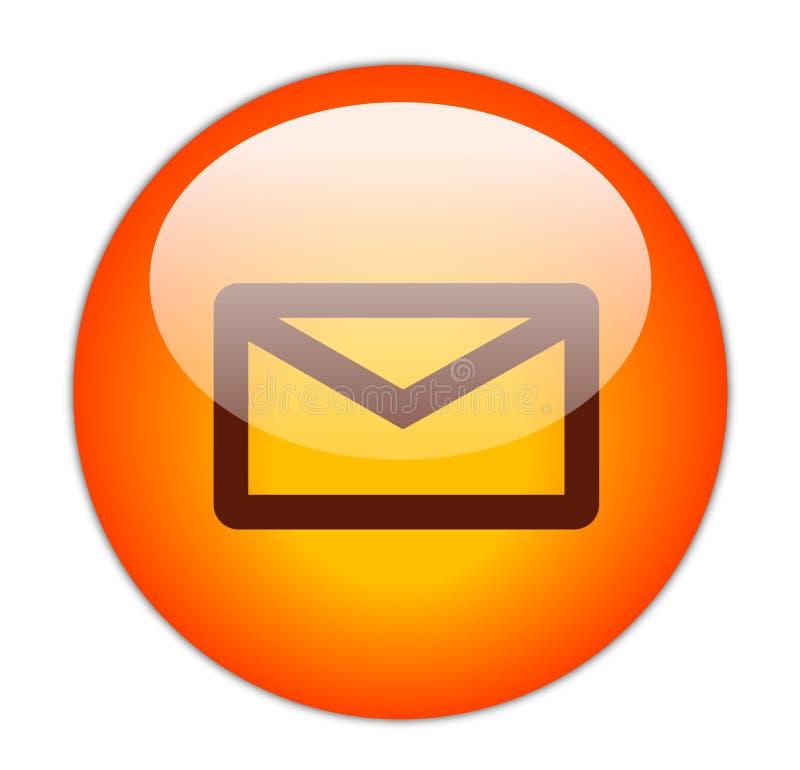 按钮邮件 皇族释放例证