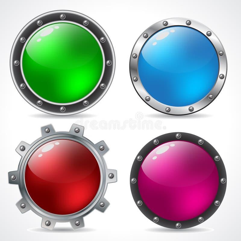 按钮酷的设计新技术 库存例证