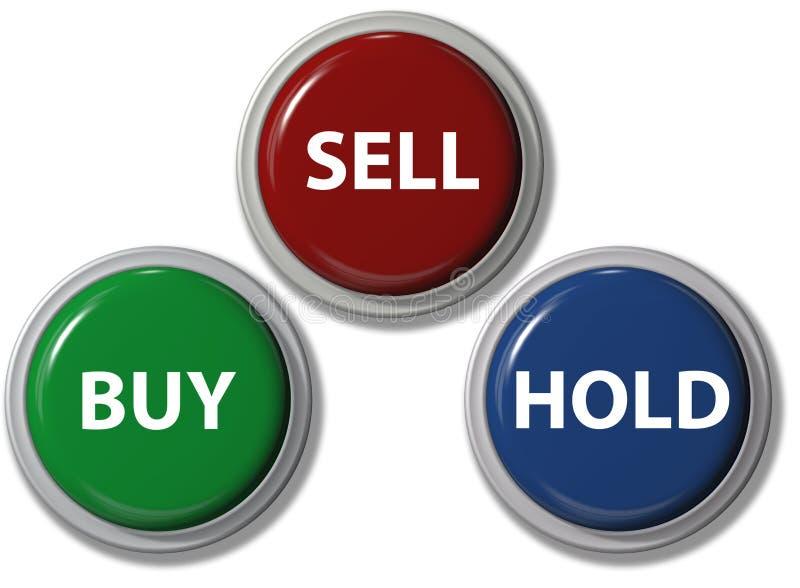 按钮采购单击财务暂挂出售 库存例证