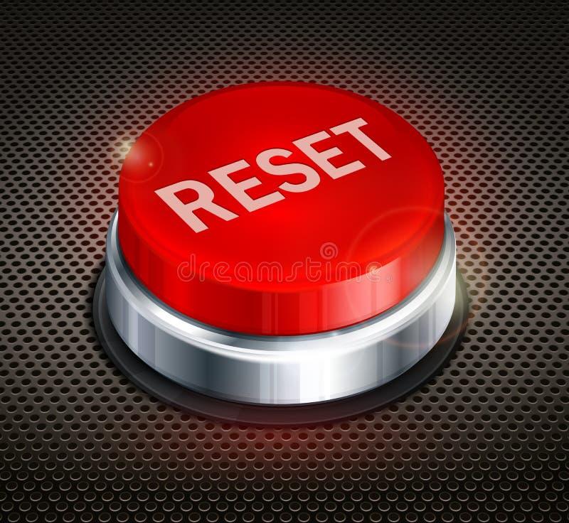 按钮重新设置 向量例证
