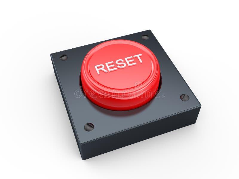 按钮重置 皇族释放例证