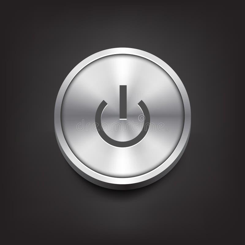 按钮金属次幂 向量例证