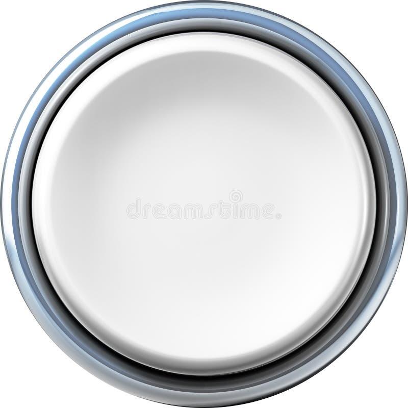 按钮银 向量例证