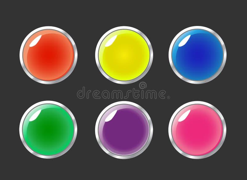 按钮集合向量 向量例证