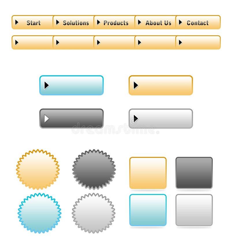 按钮集合网站 库存例证