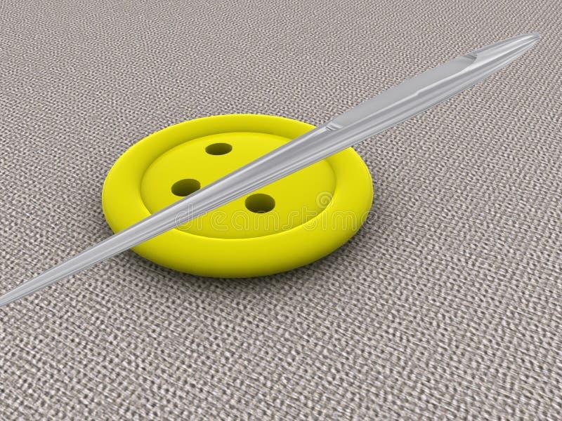 按钮黄色 库存例证