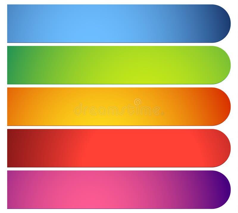按钮,横幅形状,背景 抽象标记,标签 颜色. 菜单, 光滑.