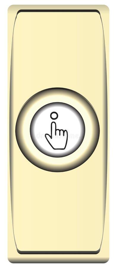 按钮黄铜响铃 库存例证