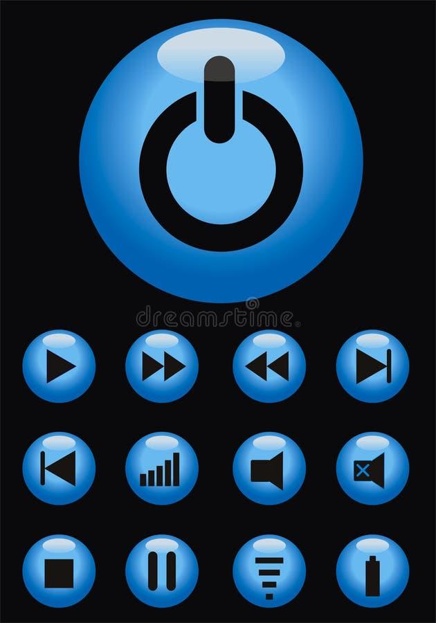 按钮f向量 皇族释放例证