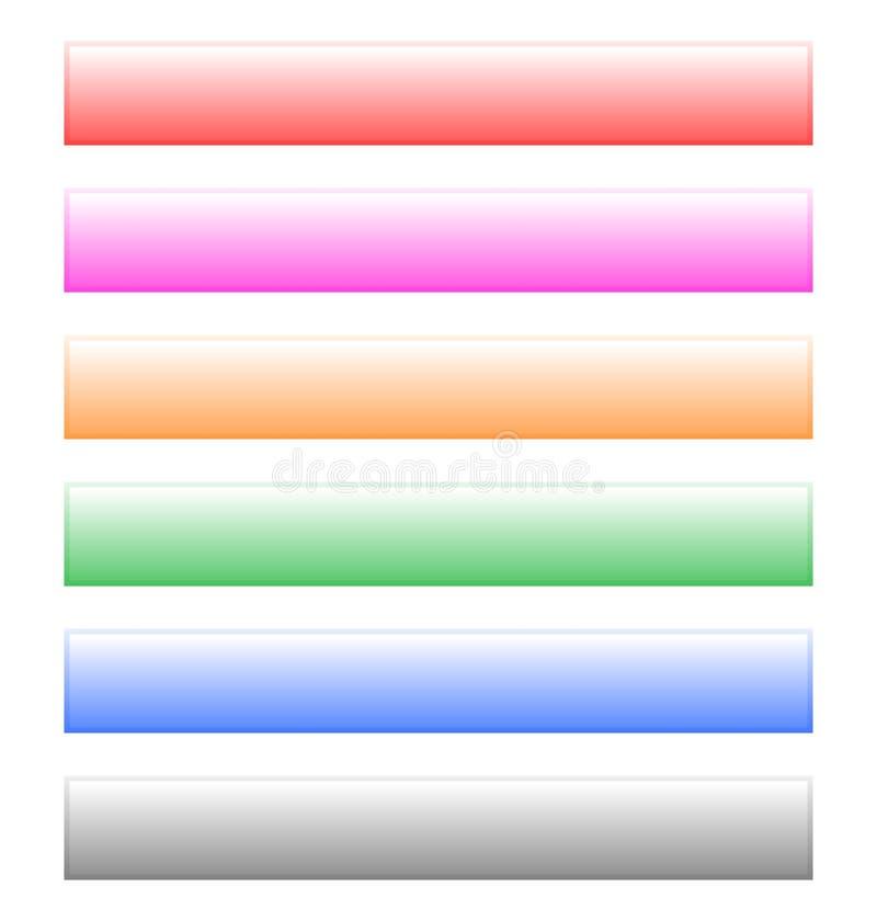 按,横幅型钢在6颜色的设计元素 向量例证