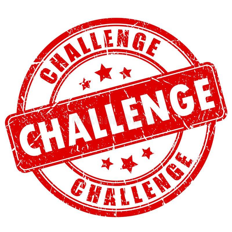 挑战不加考虑表赞同的人 库存例证