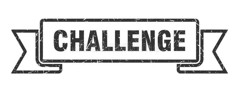 挑战丝带 向量例证