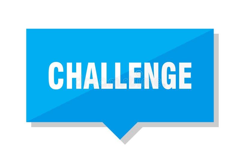 挑战价牌 向量例证