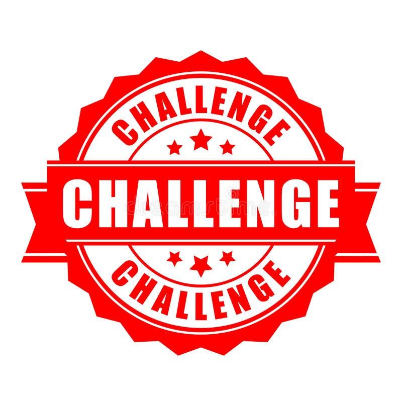 挑战传染媒介标签 库存例证