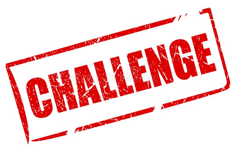 挑战传染媒介邮票 库存例证