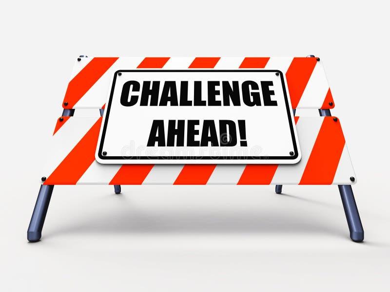 挑战克服a的前面标志展示 向量例证