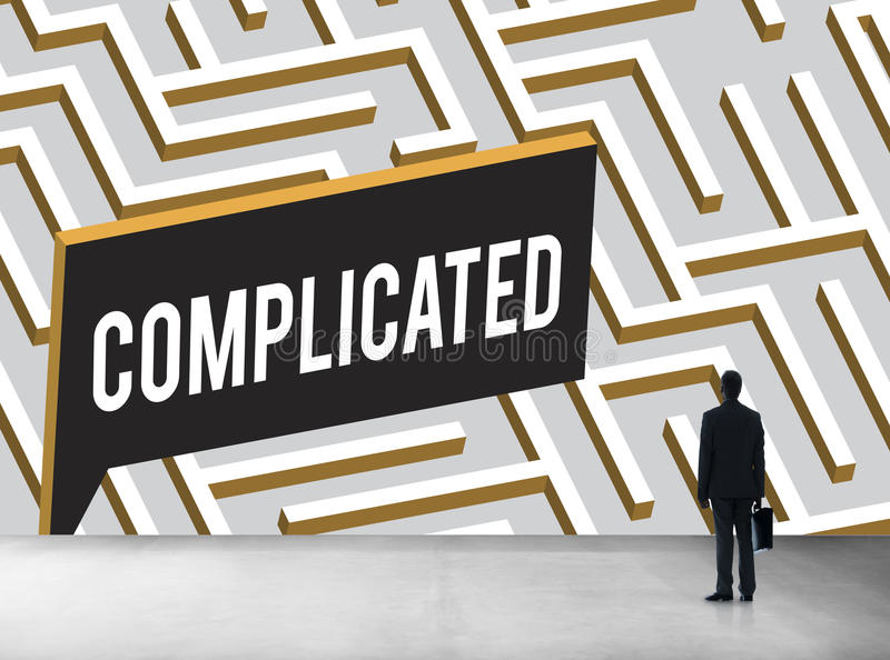 挑战分析复杂的迷宫概念 库存照片