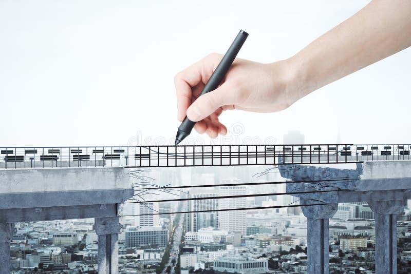 挑战和决心概念 向量例证