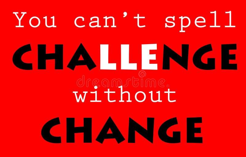 挑战和变动 库存例证