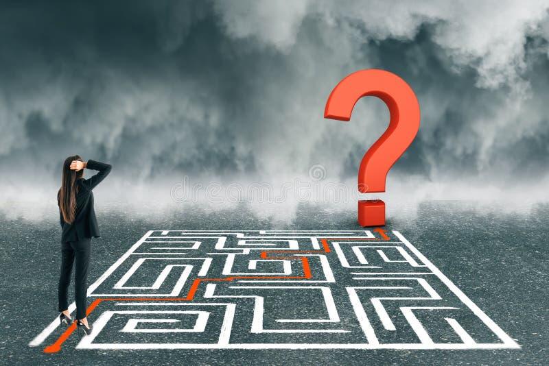 挑战和混乱概念 库存例证