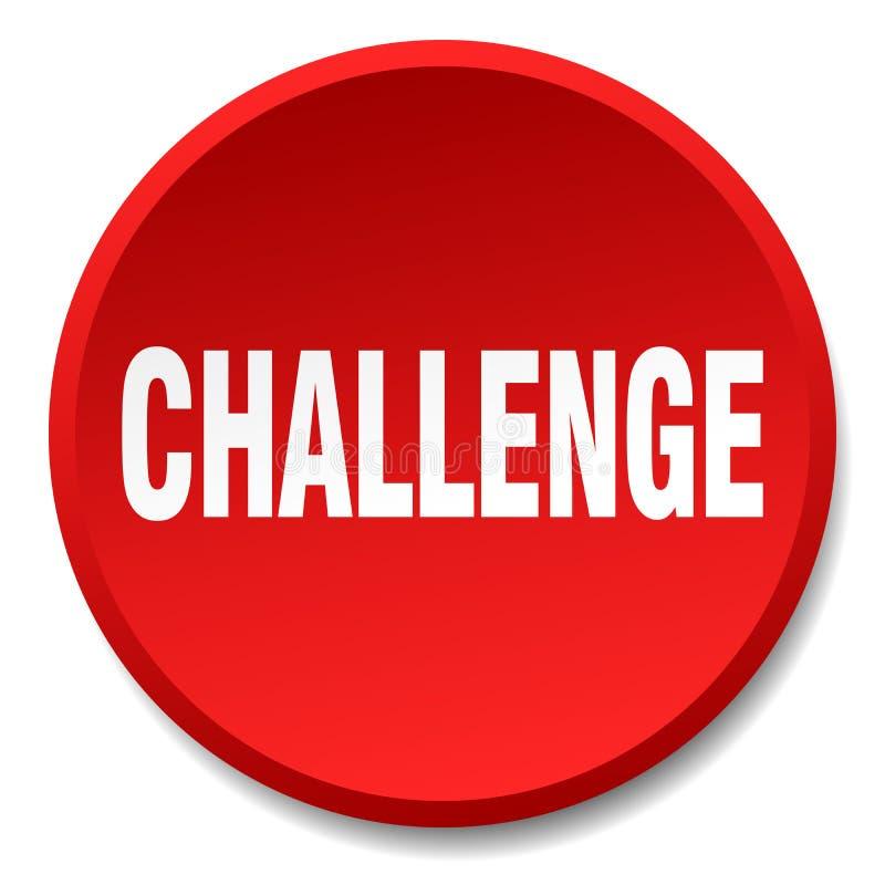 挑战按钮 皇族释放例证