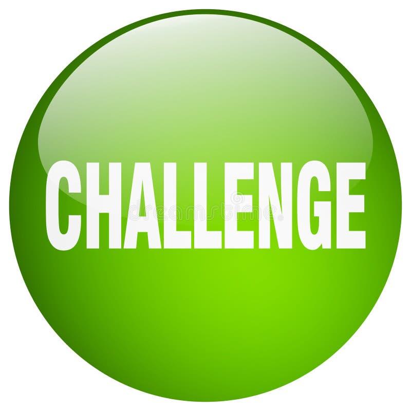 挑战按钮 库存例证