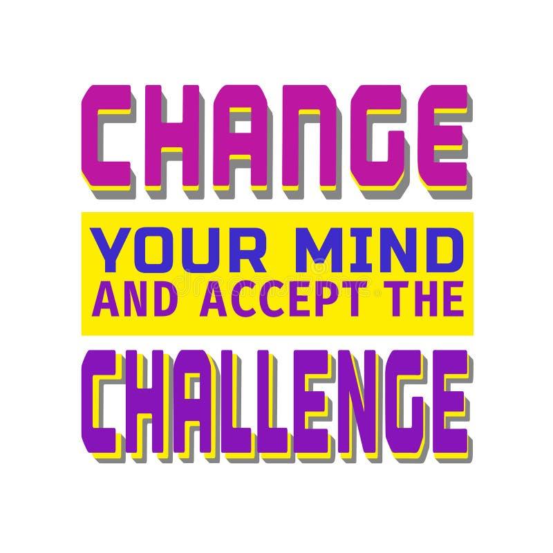 挑战横幅概念 向量例证