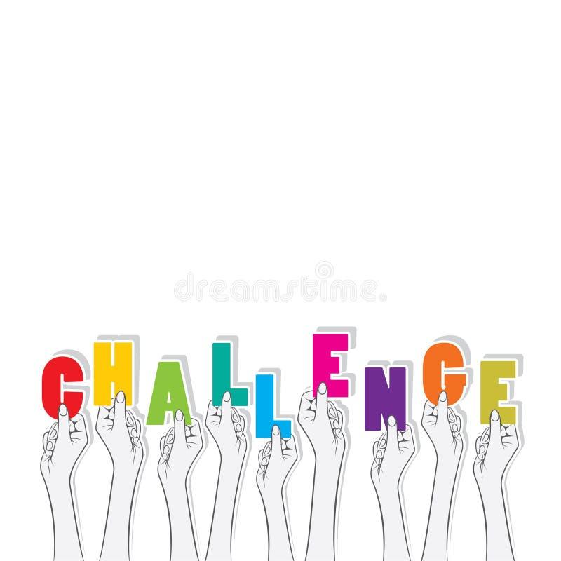挑战横幅设计 向量例证
