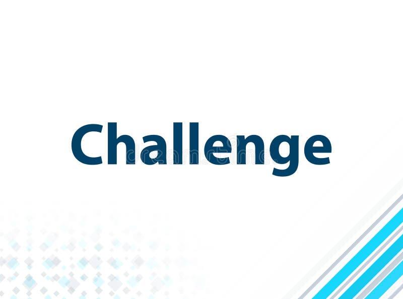 挑战现代平的设计蓝色抽象背景 库存例证