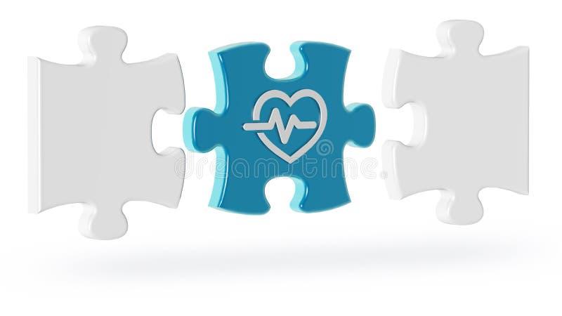 挑战的概念在心脏病学方面 库存例证