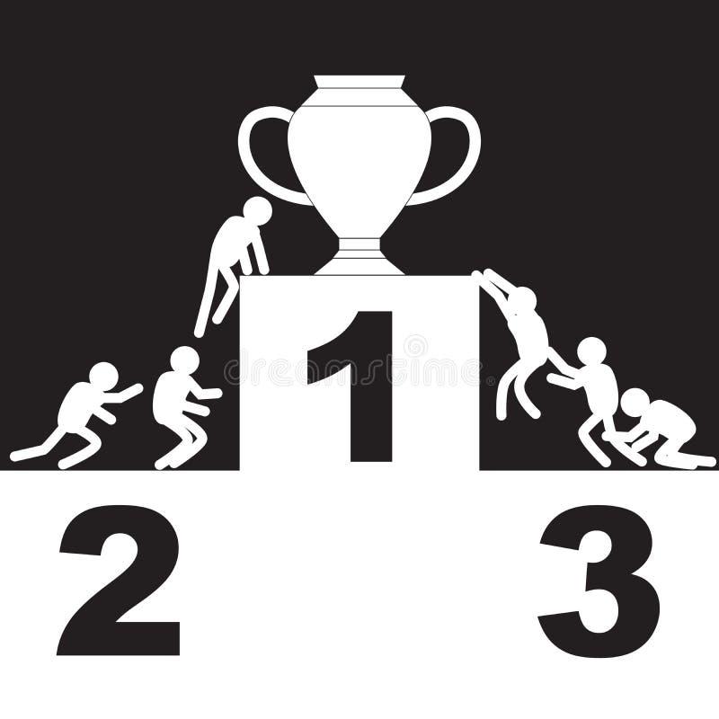 挑战目标和竞争的优胜者 库存例证