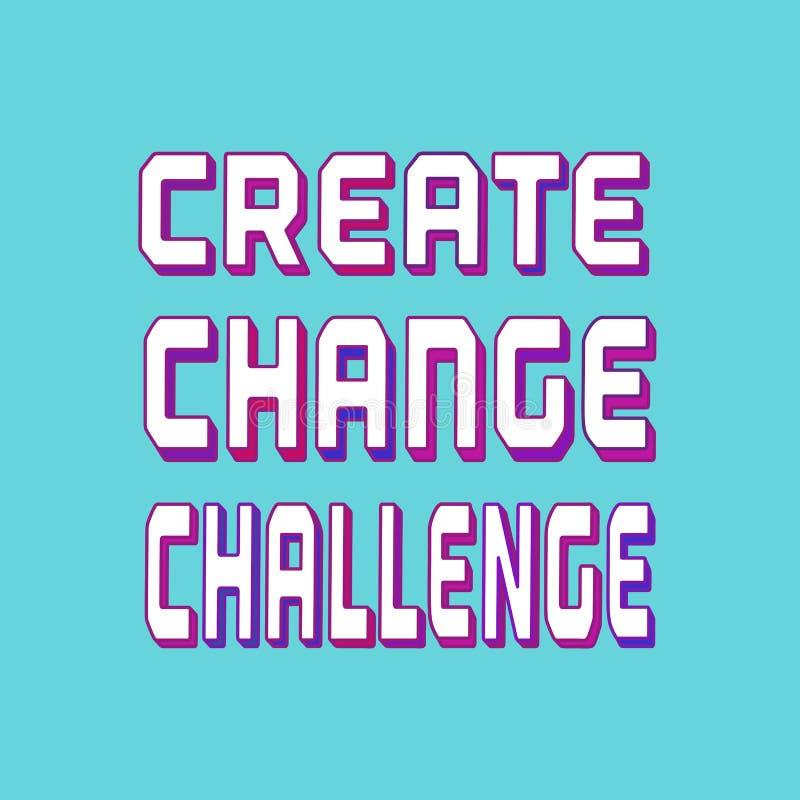 挑战背景概念 库存例证