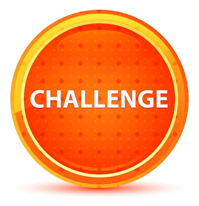 挑战自然橙色圆的按钮 库存例证