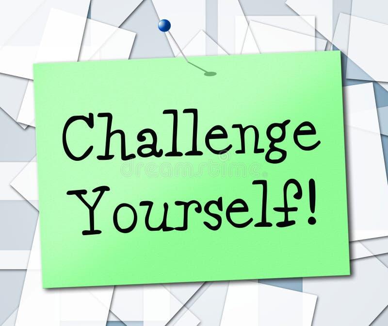 挑战被确定的意味鼓励志向和 皇族释放例证