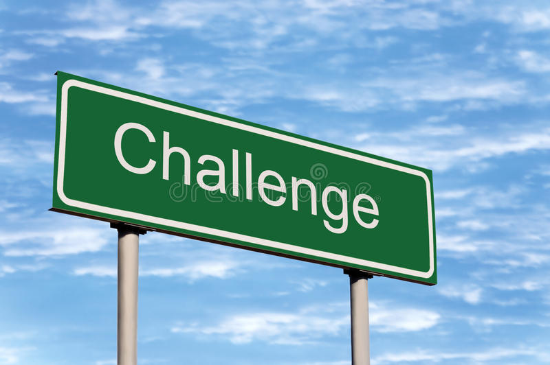 挑战覆盖路标天空 向量例证