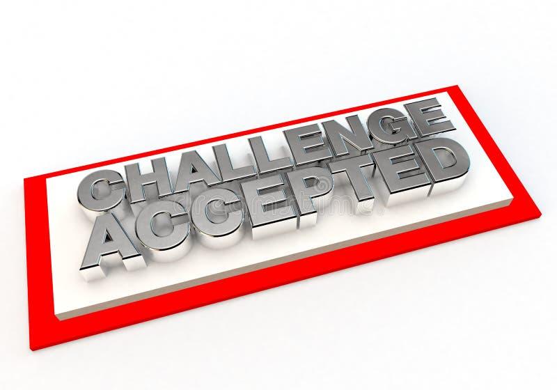 挑战认同被接受的邮票  库存例证