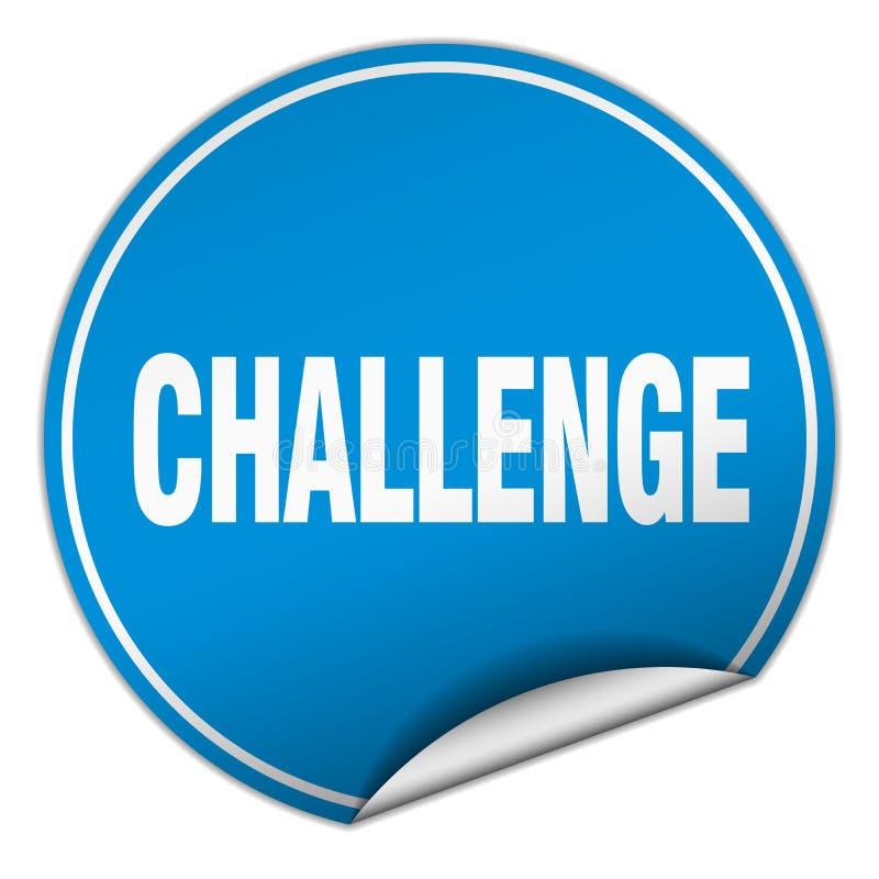挑战贴纸 库存例证