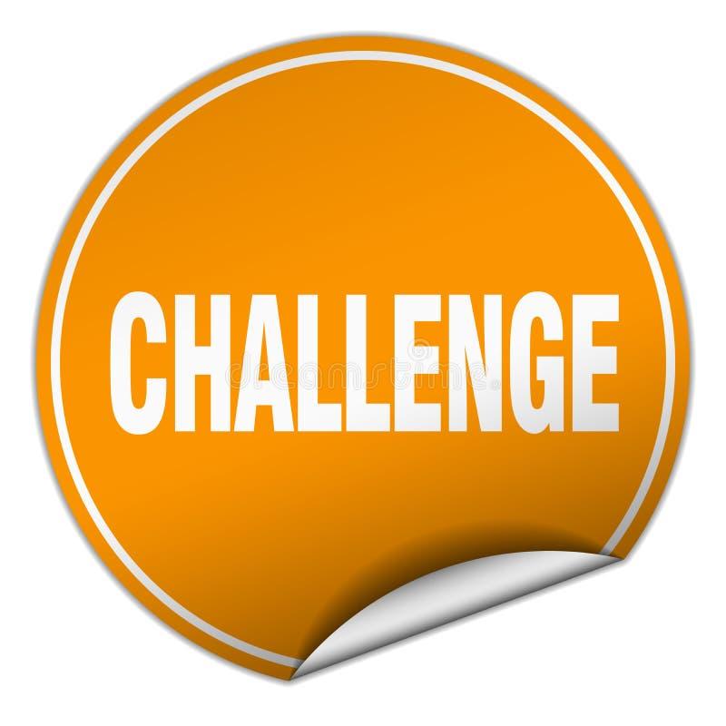 挑战贴纸 向量例证