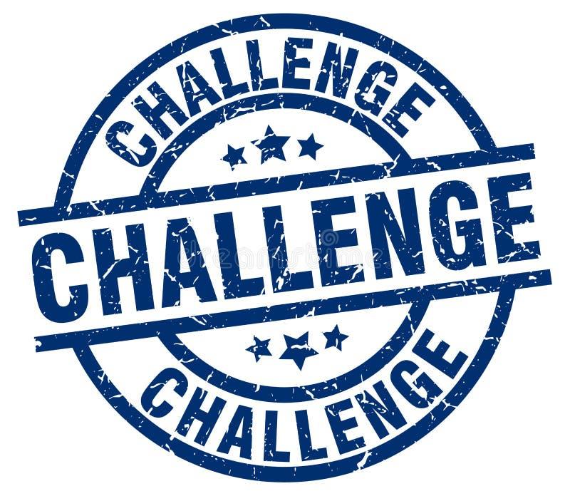 挑战邮票 库存例证