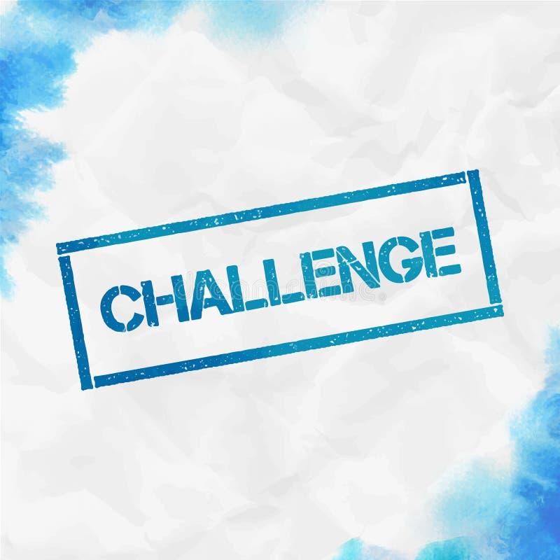 挑战长方形邮票 库存例证