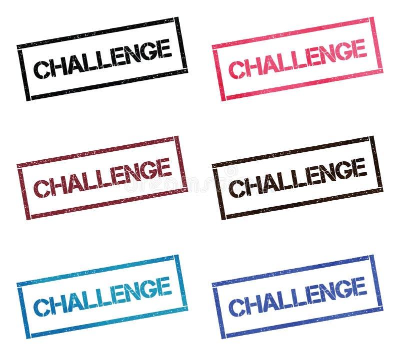 挑战长方形集邮 库存例证