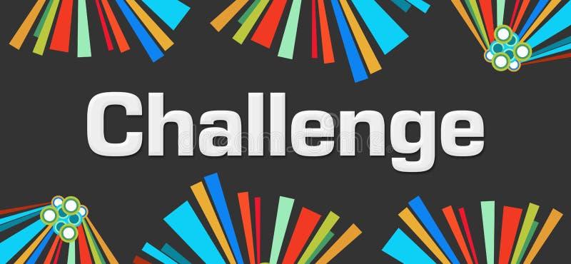 挑战黑暗的五颜六色的元素背景 向量例证