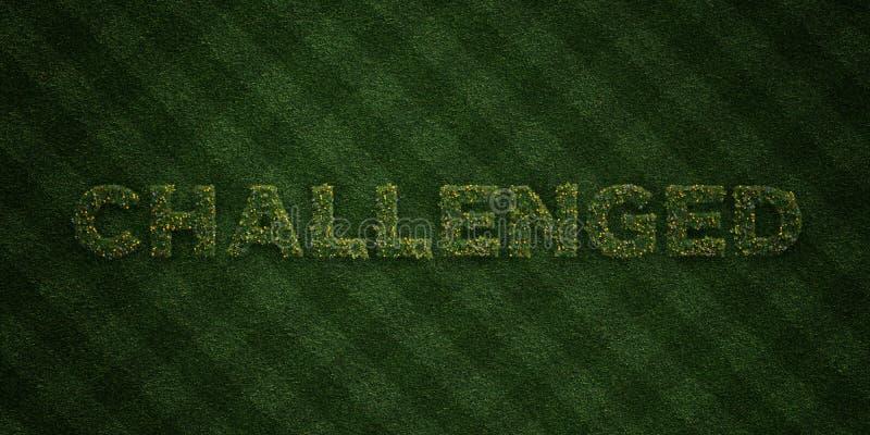挑战-与花和蒲公英的新草信件- 3D回报了皇族自由储蓄图象 库存例证