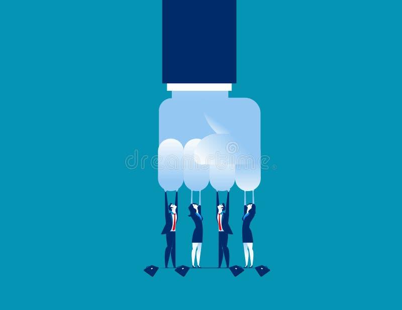 挑战 小挑战大笔生意 概念企业传染媒介例证 向量例证