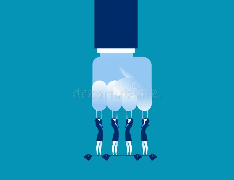 挑战 小挑战大笔生意 概念企业传染媒介例证 皇族释放例证