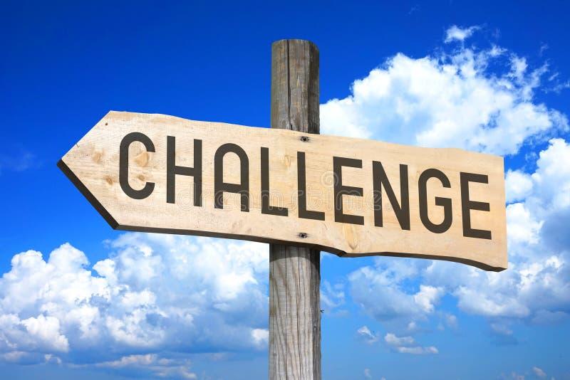 挑战-木路标 库存例证