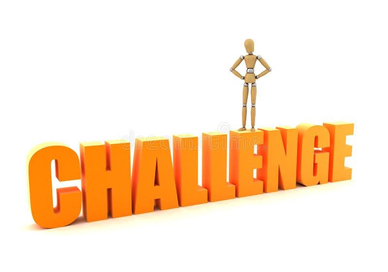 挑战 向量例证