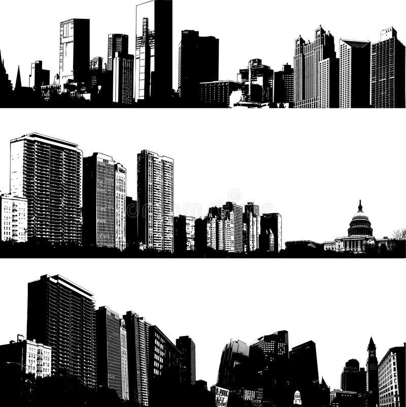挑选城市地平线 皇族释放例证