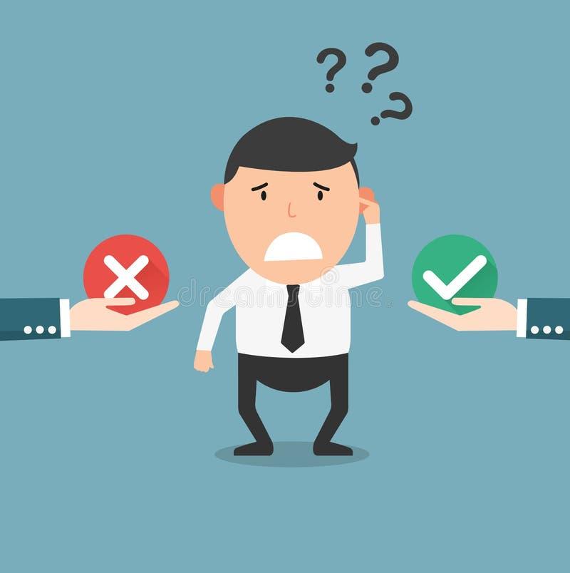 挑选正确和错误 向量例证